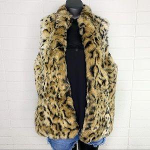 Chicos Leopard Fearless Cheetah Fatema Jacket Vest